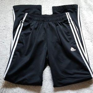 Adidas pants size medium black white